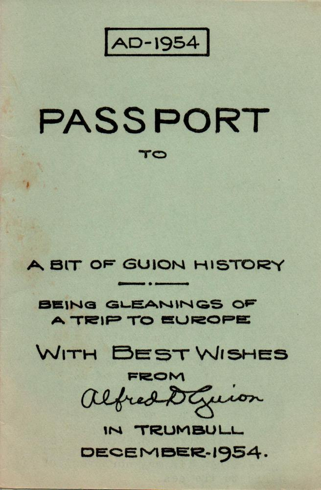 ADG - 1954 Christmas Card - Passport - cover