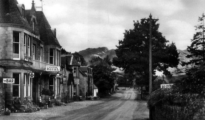 Old Photograph Station Hotel Strathyre Scotland
