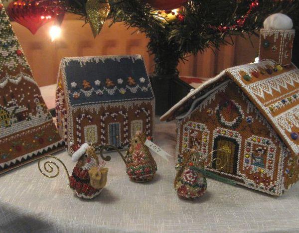Just Nan Xmas mice and gingerbread village