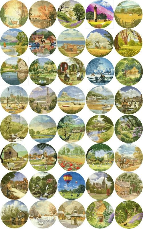 John Clayton Circles Series cross stitch
