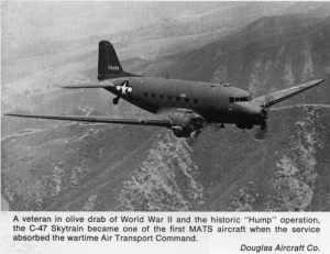 C-47 flying over The Hump