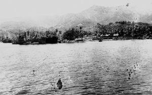 Ships in anchor at Milne Bay, 1944